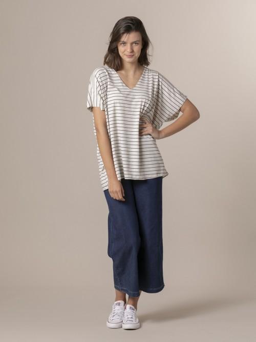 Woman Woman Striped oversize t-shirt Blue