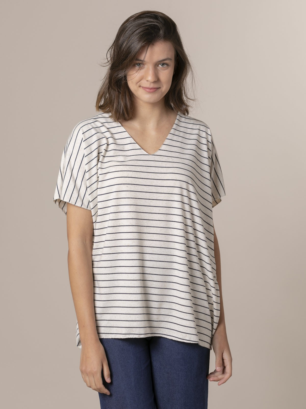 Woman Woman Striped oversize t-shirt Blue