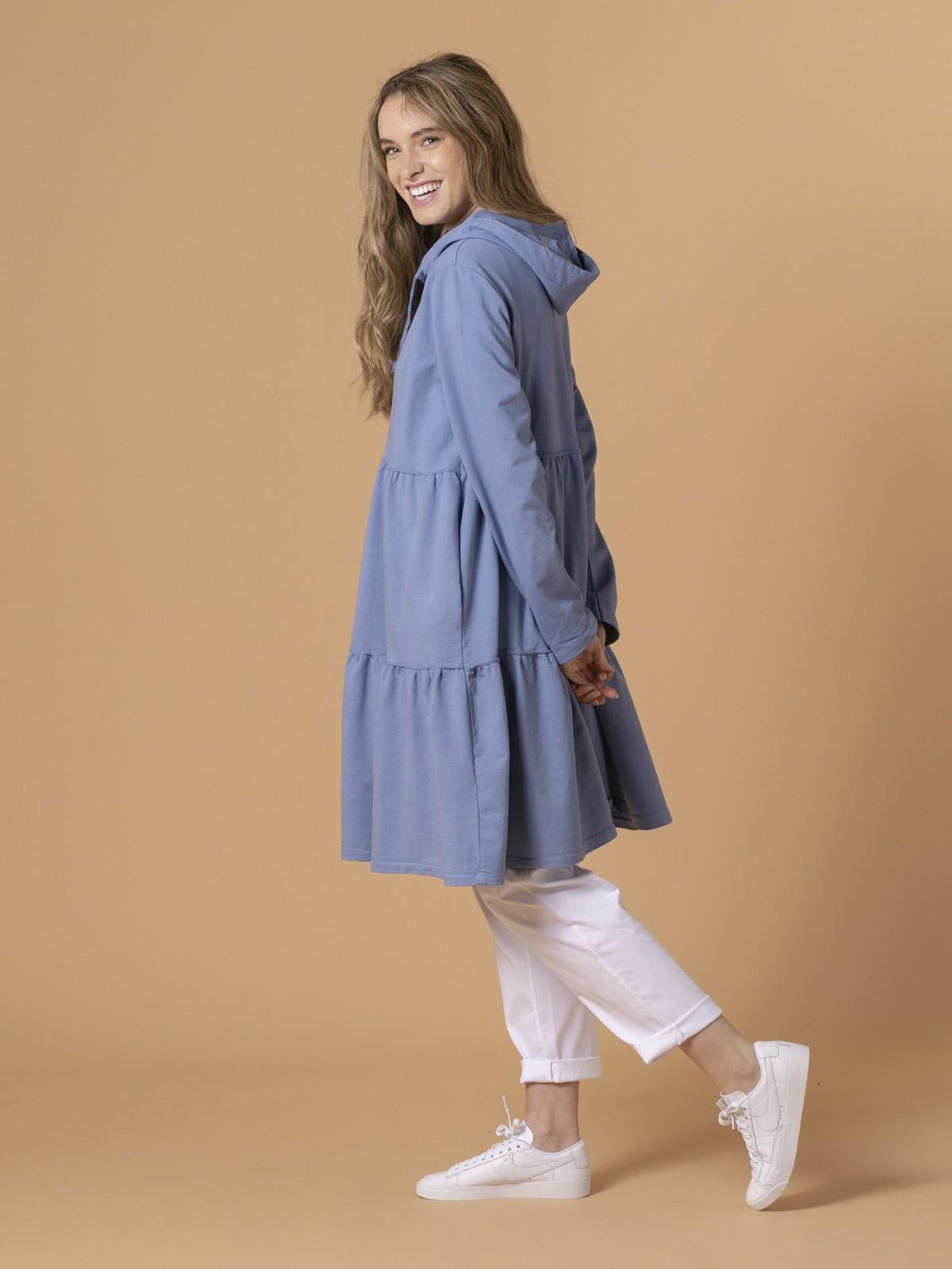 Woman Woman Long zip-up hoodie Blue