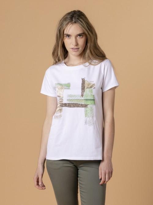 Camiseta mujer trazos Verde