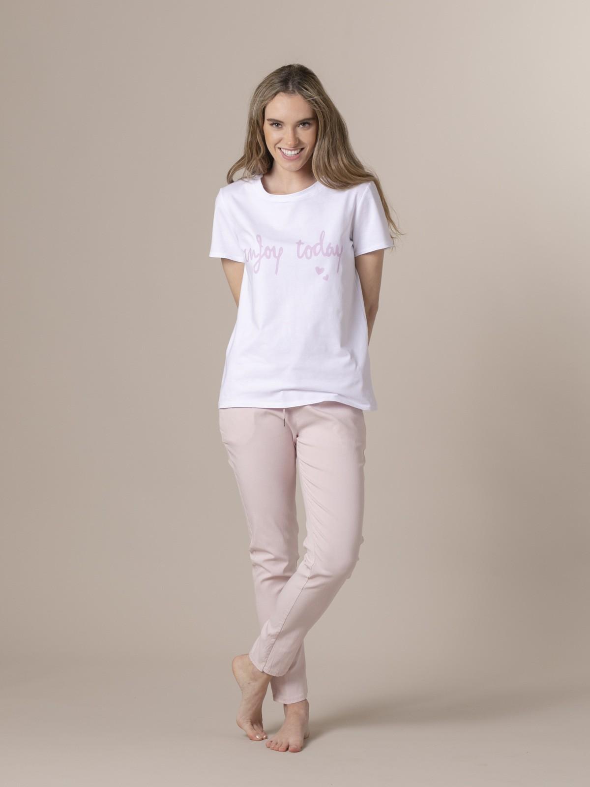 Camiseta mujer enjoy today Rosa