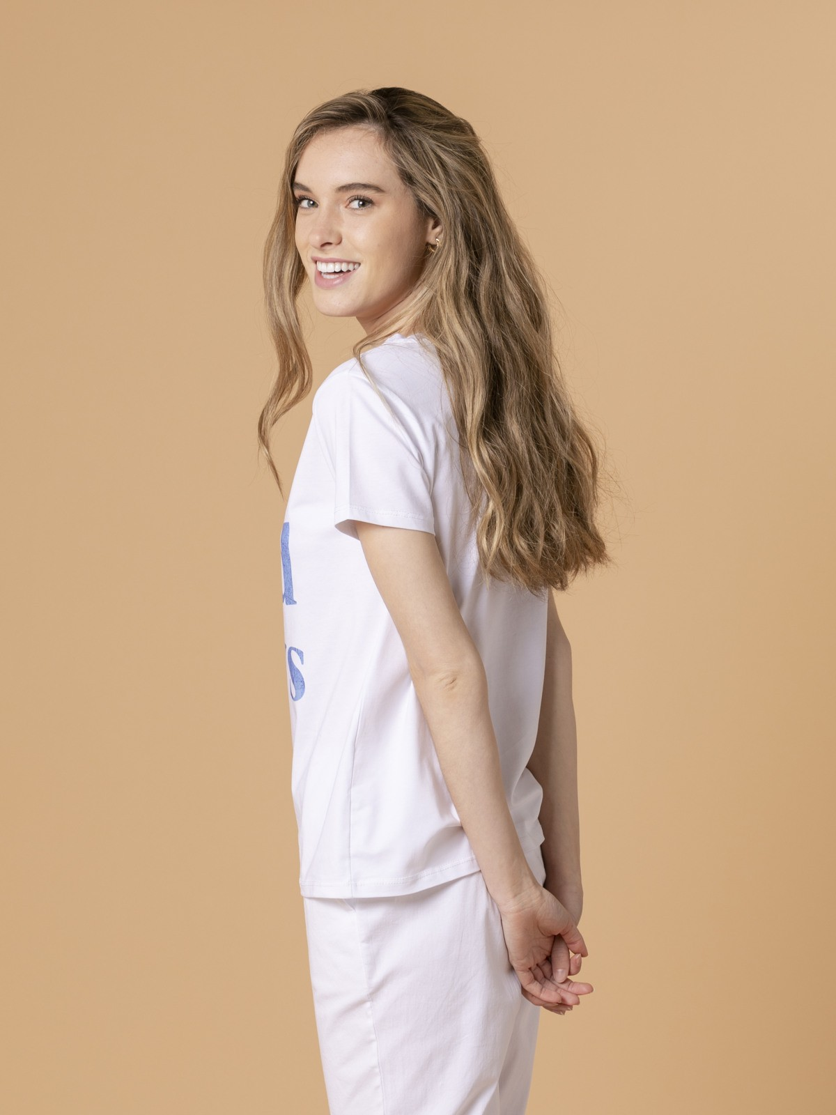Camiseta mujer no bad day Azul