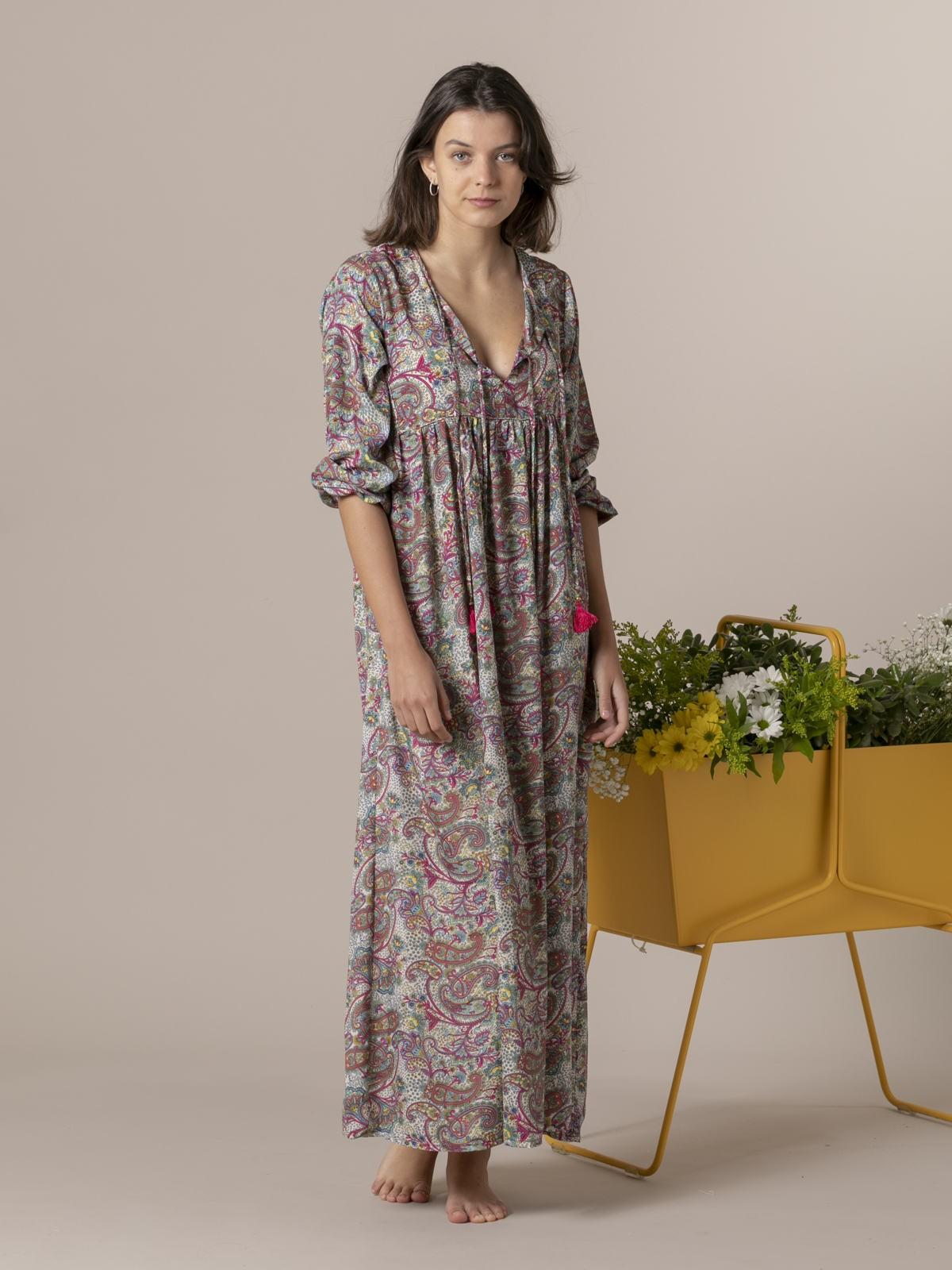 Vestido largo estampado Multicolor