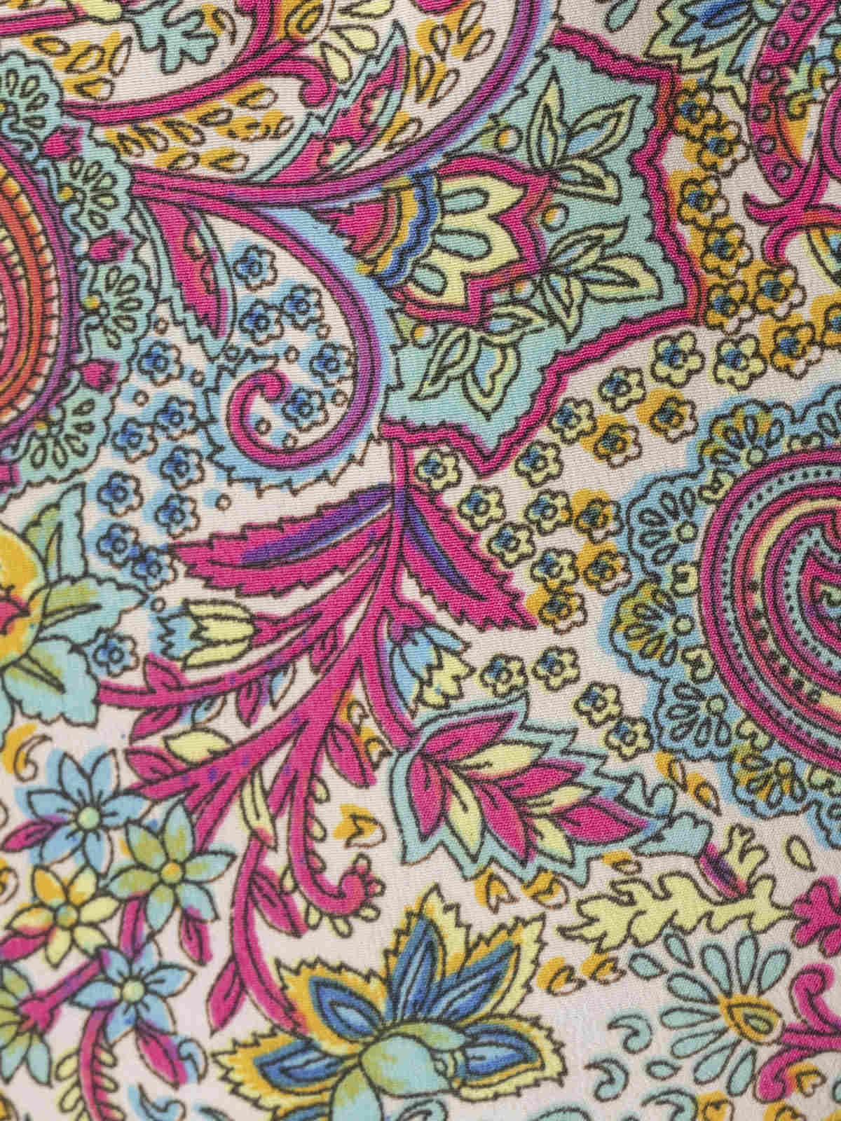 Camisa fluida estampada botones mujer Multicolor