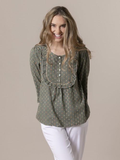 Woman Shirt half sleeve Khaki
