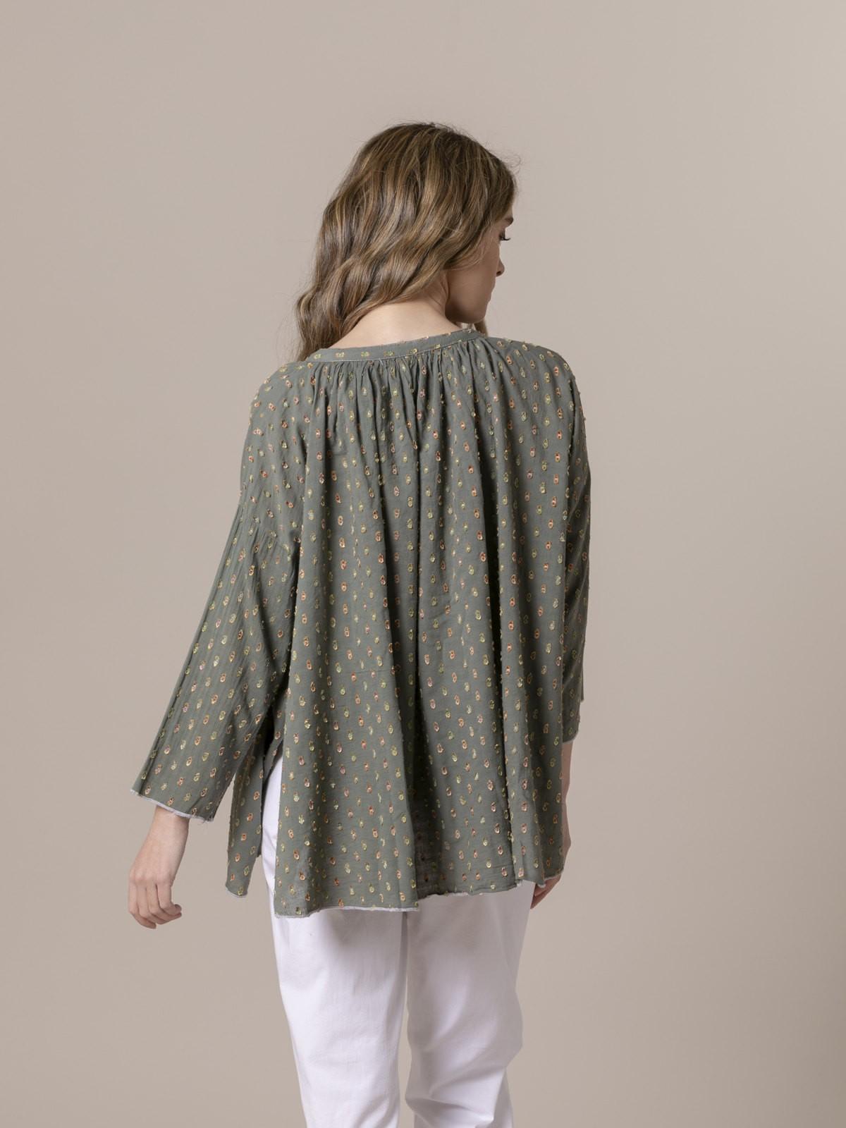 Woman Woman shirt half sleeve Khaki