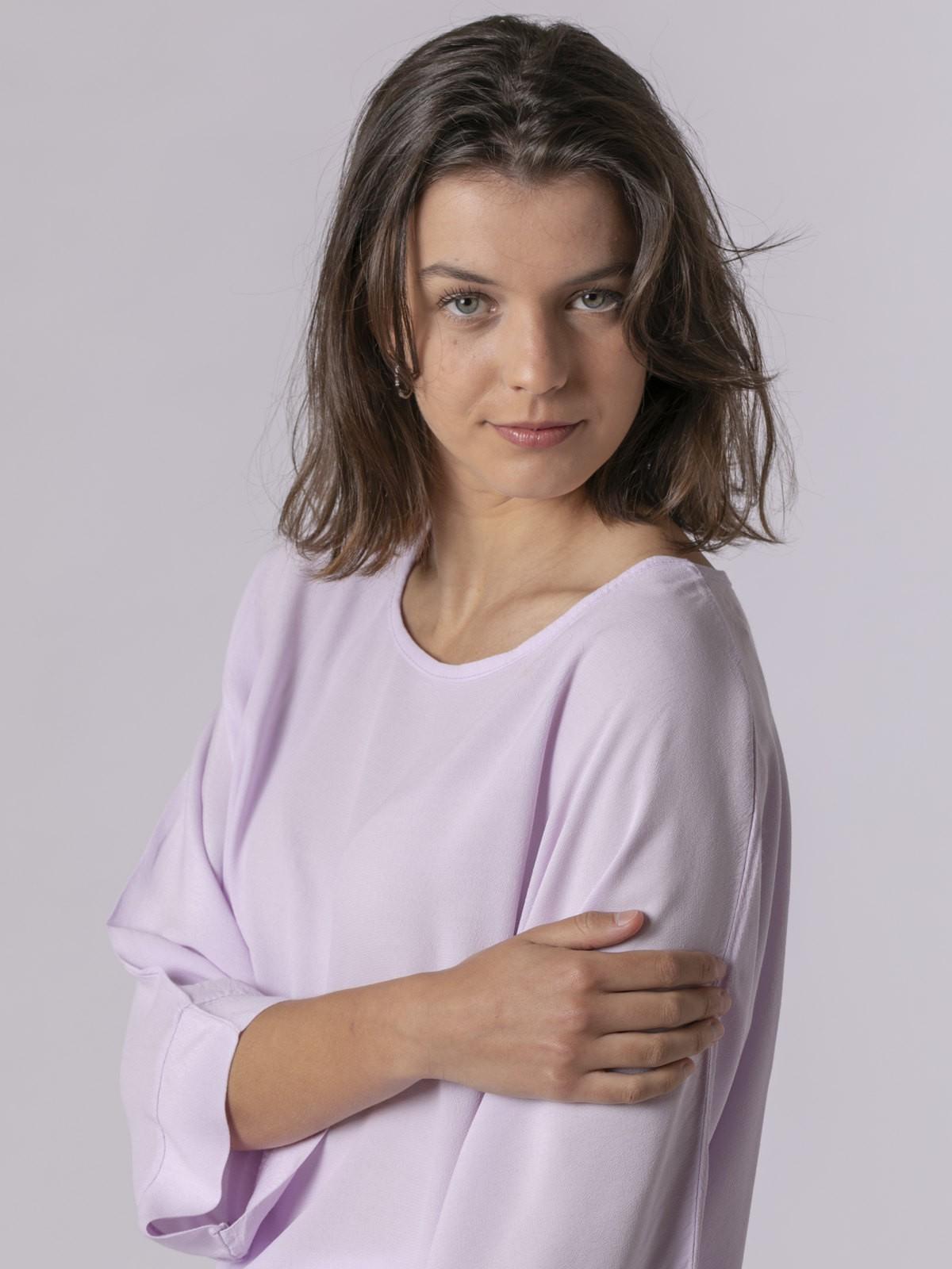 Blusa mujer oversize manga larga Lila