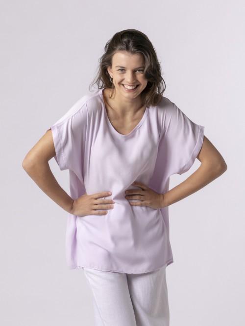 Blusa de mujer manga corta Lila