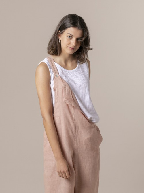 Woman Woman Crinkled cotton top White