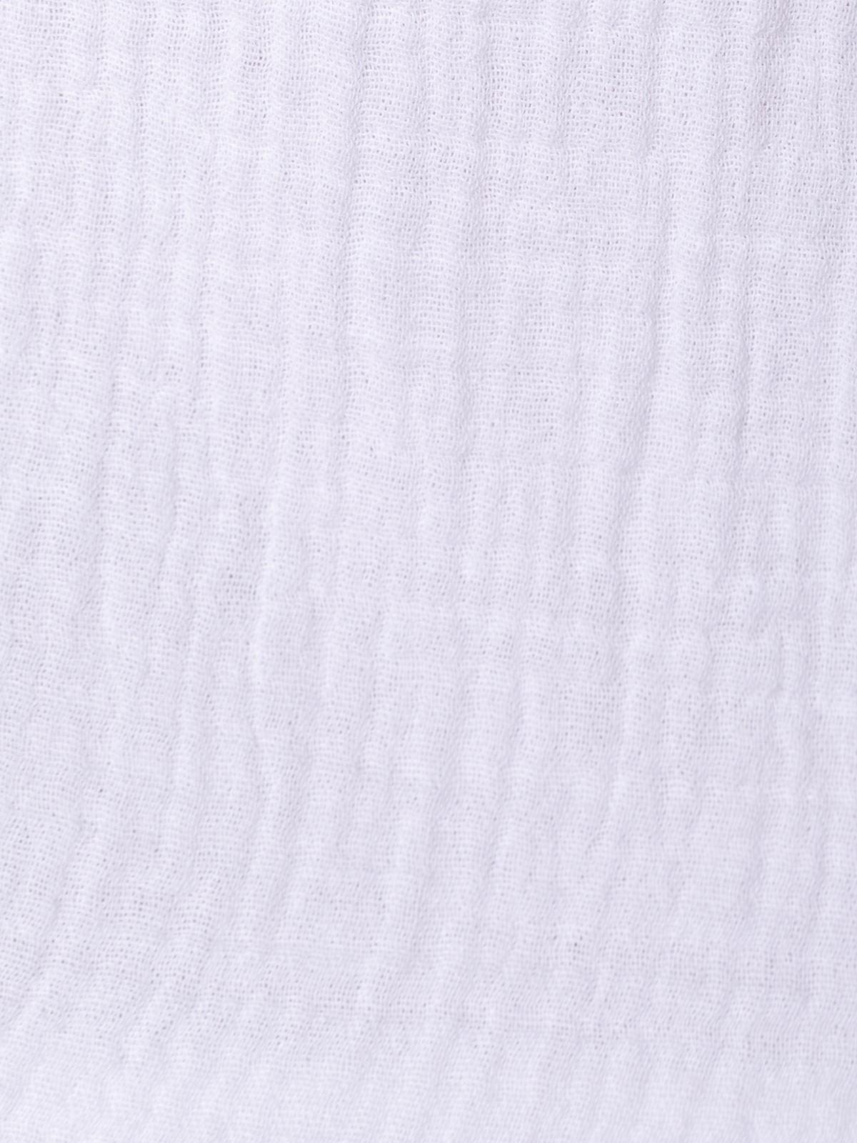 Top de algodón arrugado Blanco