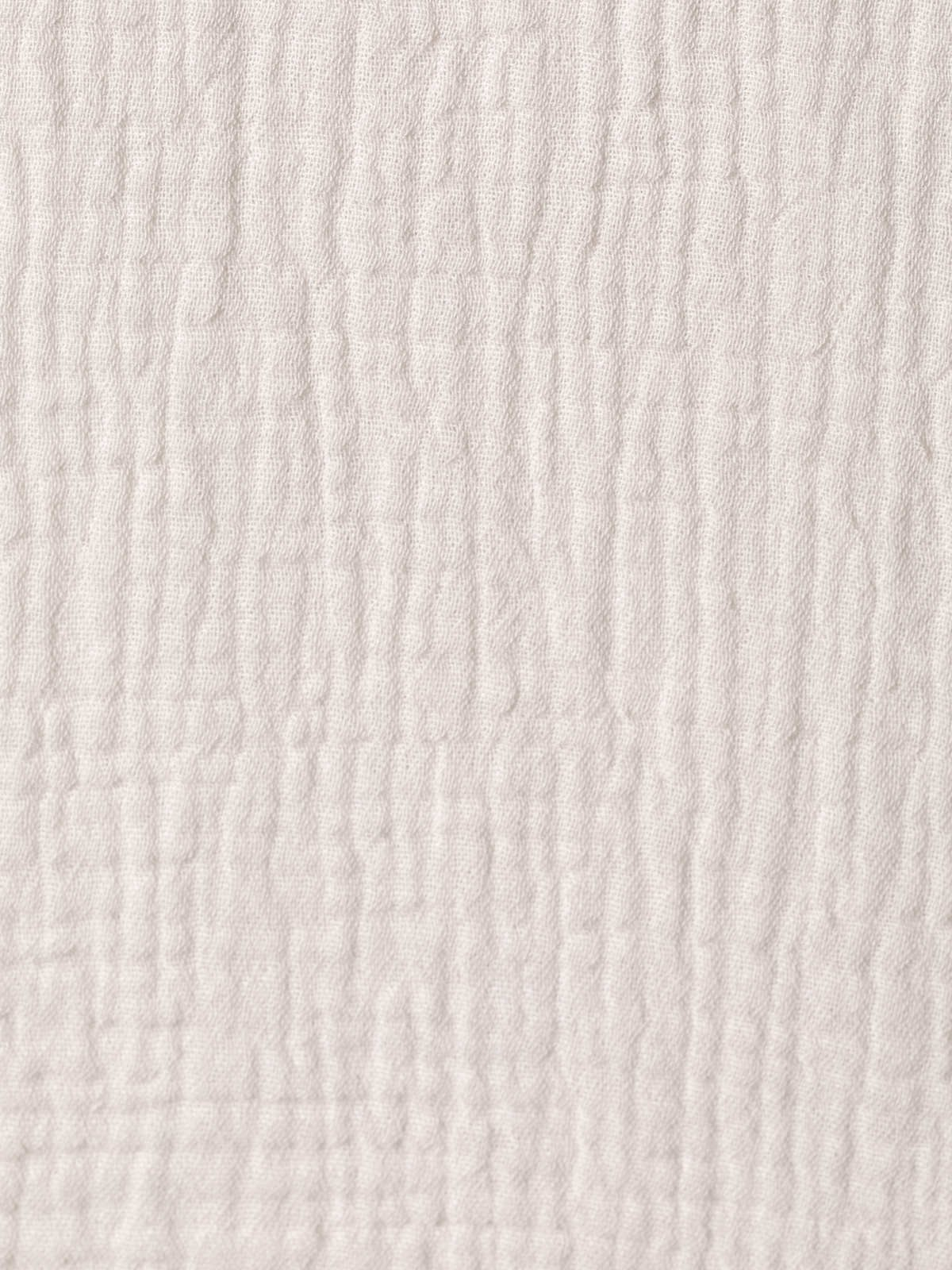 Top de algodón arrugado Beige