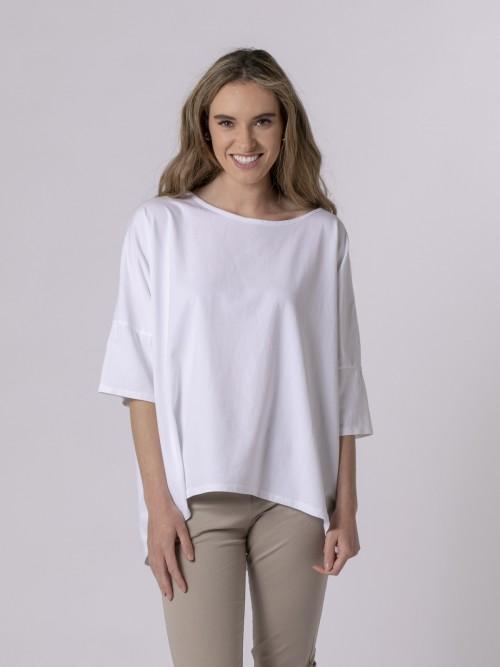 Woman Woman Boat neck T-shirt White