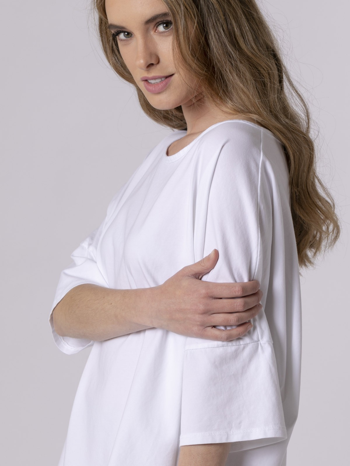 Camiseta mujer cuello barco Blanco