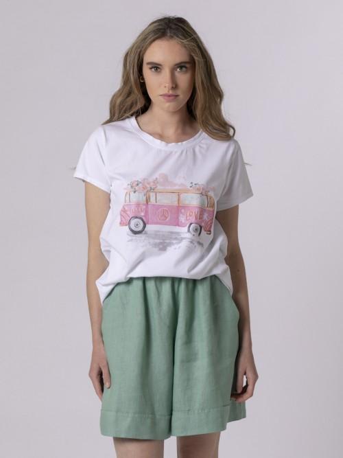 Woman Woman Digital printed t-shirt Fuchsia