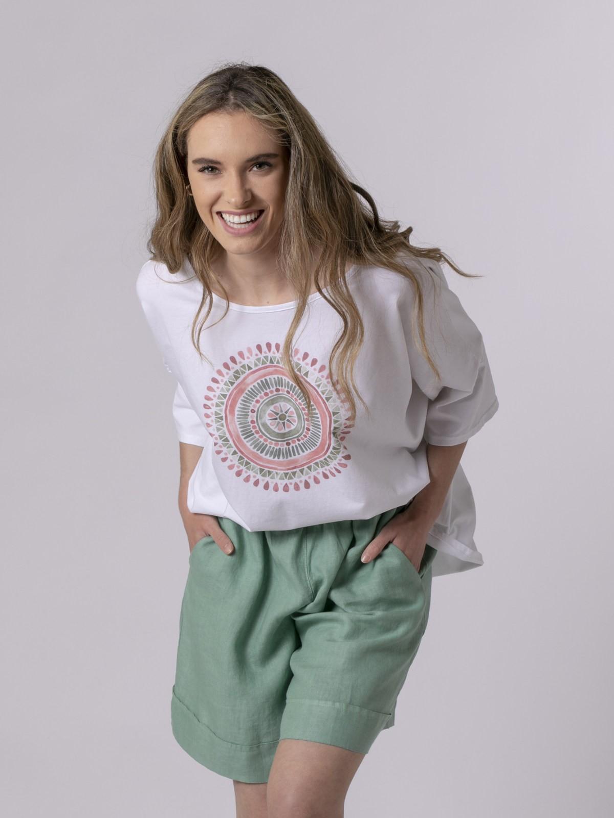 Camiseta oversize mujer estampada circulo