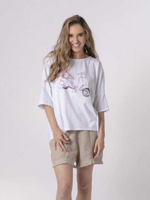 Camiseta oversize mujer estampada Lila