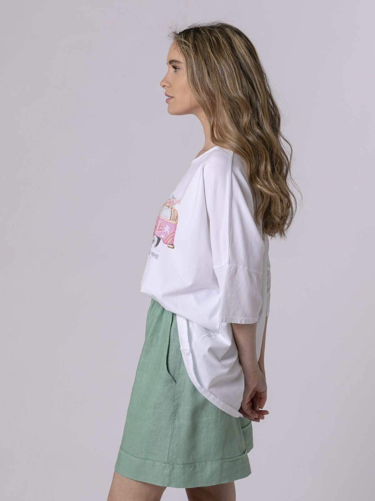 Woman Woman Oversized printed T-shirt Fuchsia