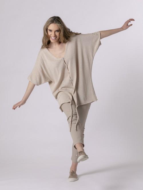 Woman Woman Cotton knit jacket Beige