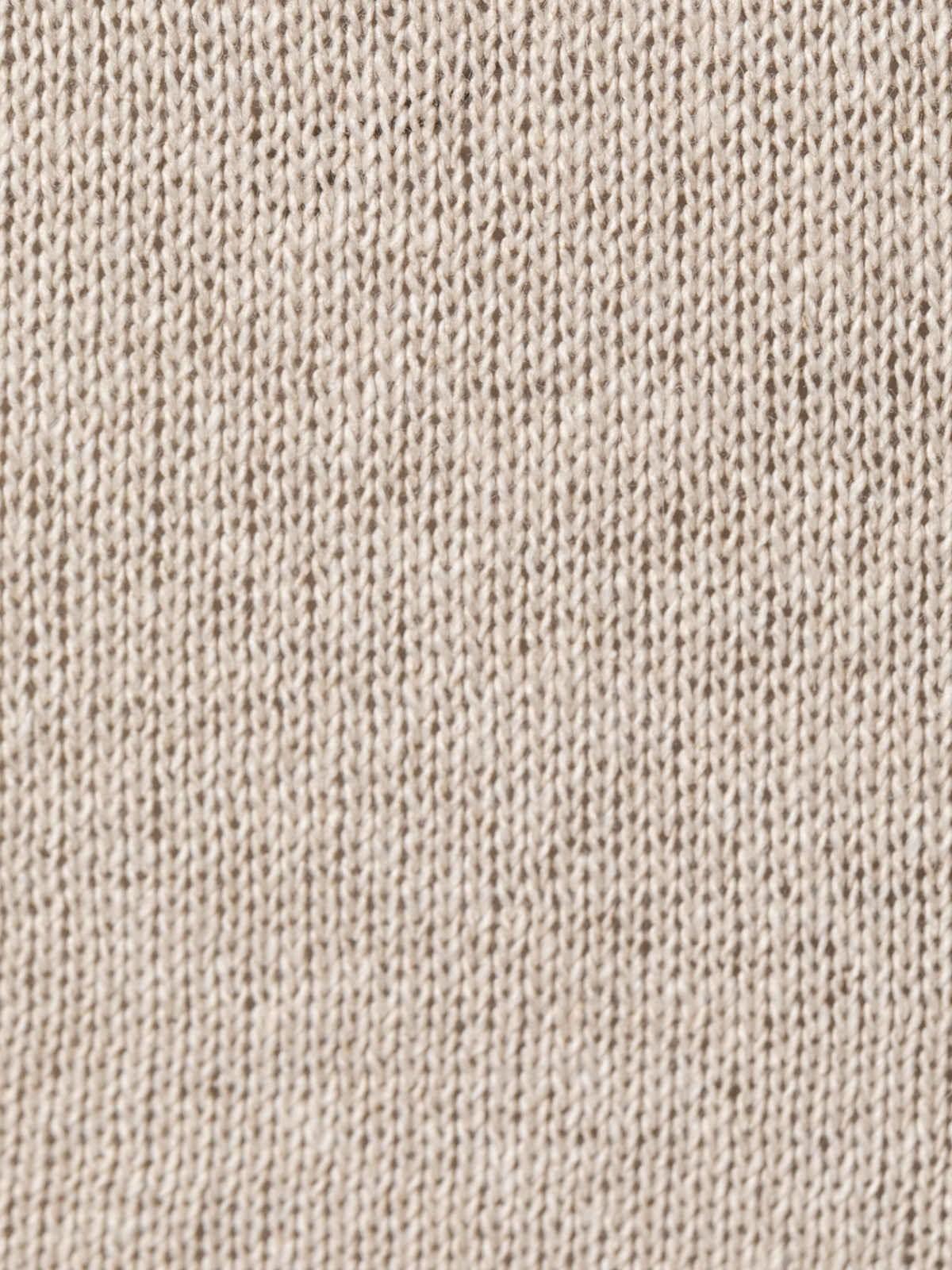 Chaqueta punto de mujer algodón Beige