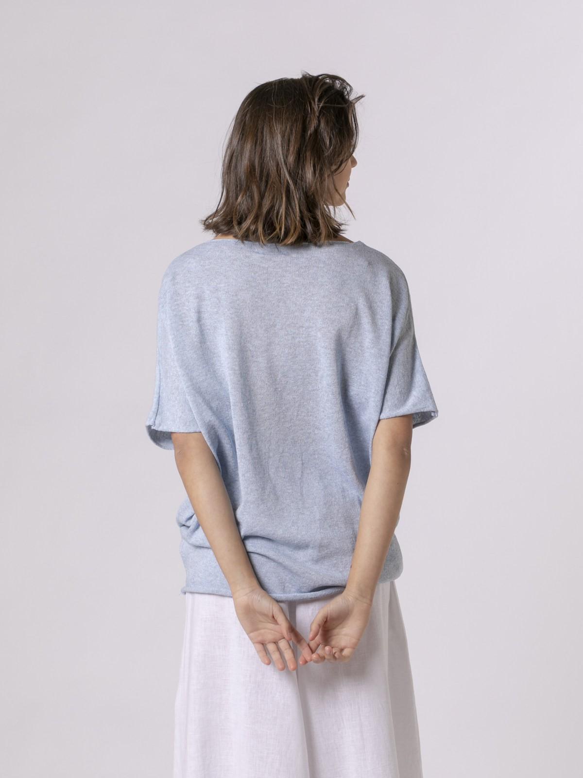 Chaqueta punto de mujer algodón Azul