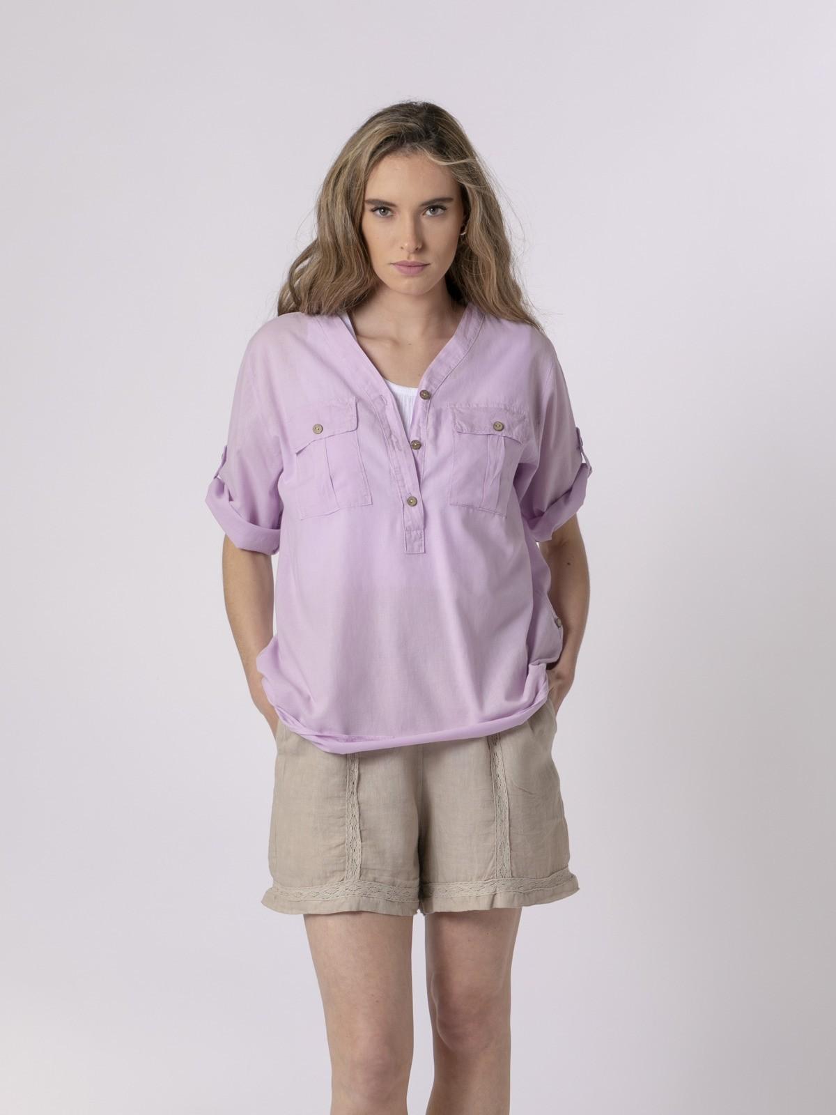 Woman Woman Buttoned blouse Lila