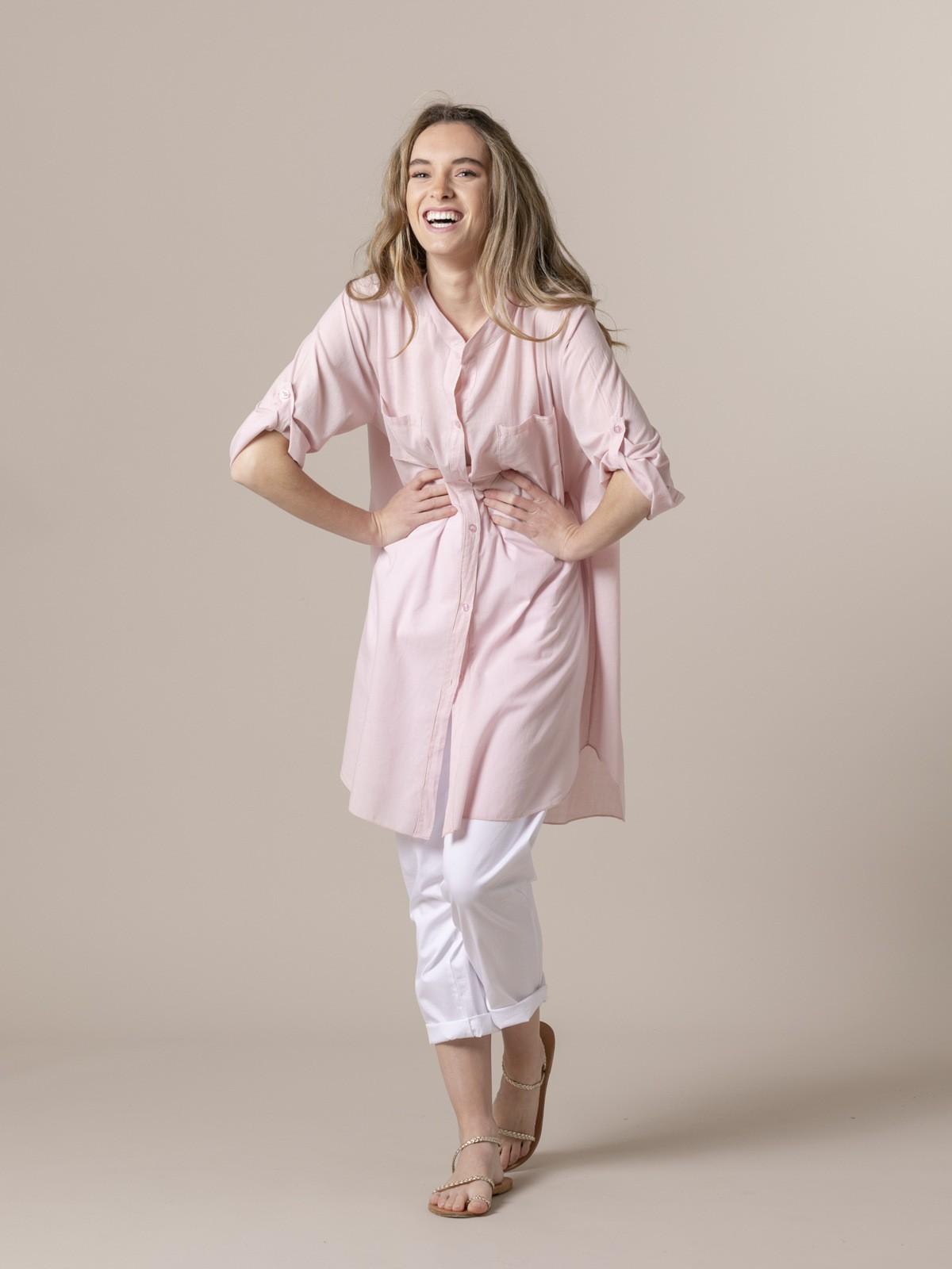 Woman Woman Plain blouse Pink