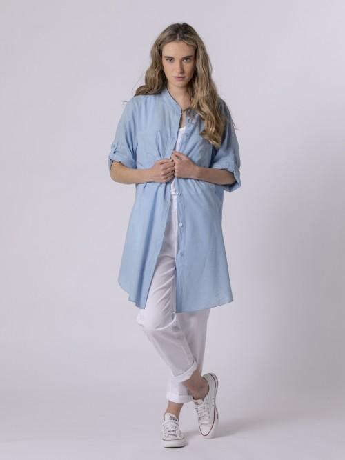 Woman Woman Plain blouse Blue