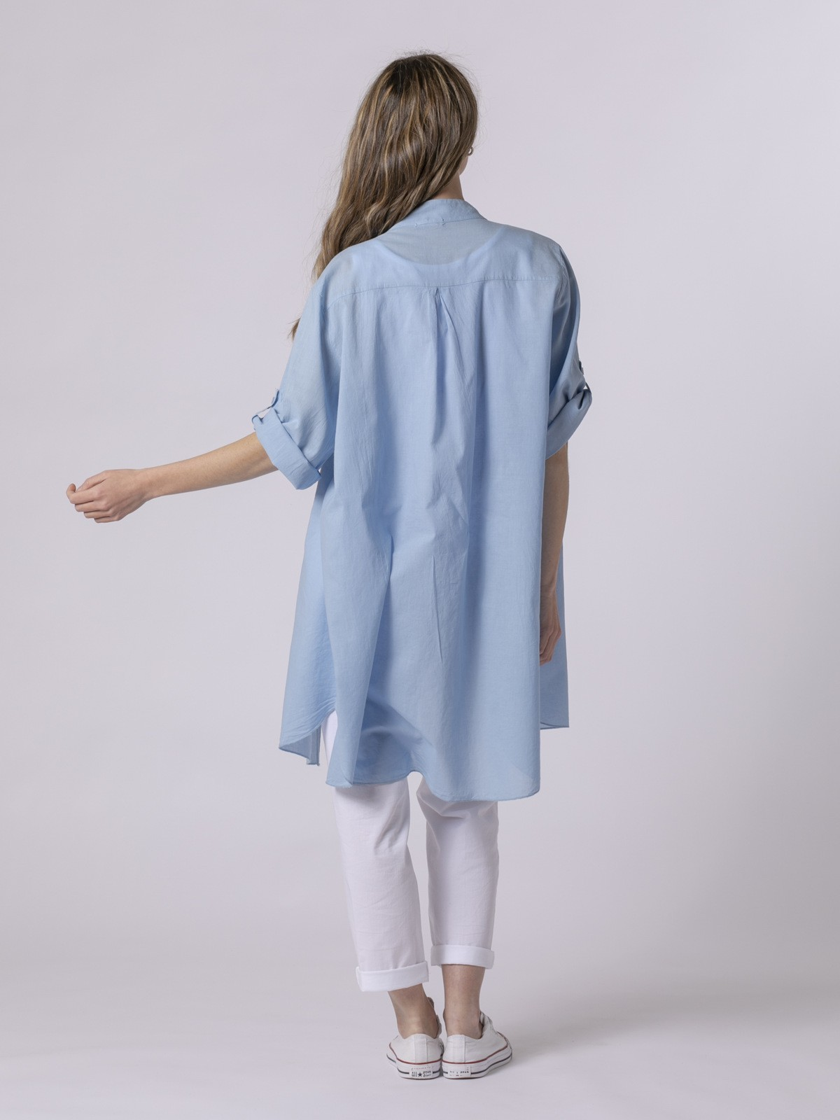 Woman Woman Plain blouse Blue