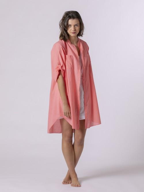Woman Woman Plain blouse Coral