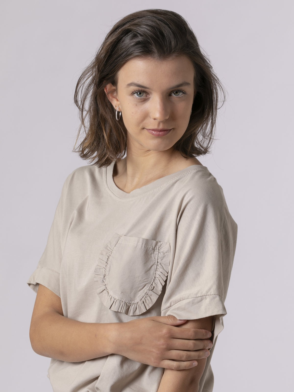 Woman Woman Special pocket t-shirt Beige