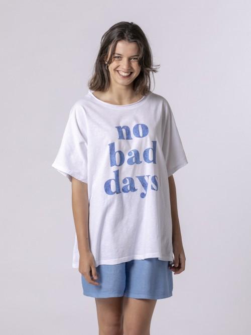 Woman Woman No bad day t-shirt Blue