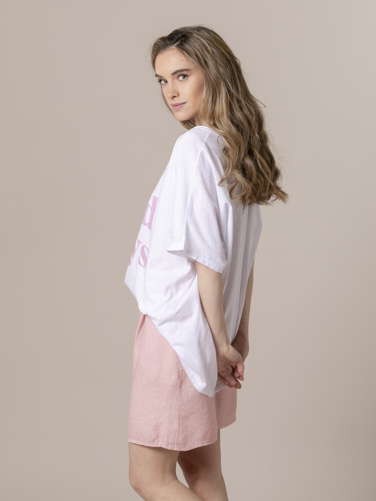 Woman Woman No bad day t-shirt Pink