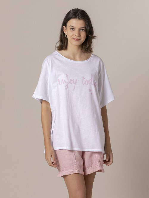 Woman Enjoy today t-shirt Pink