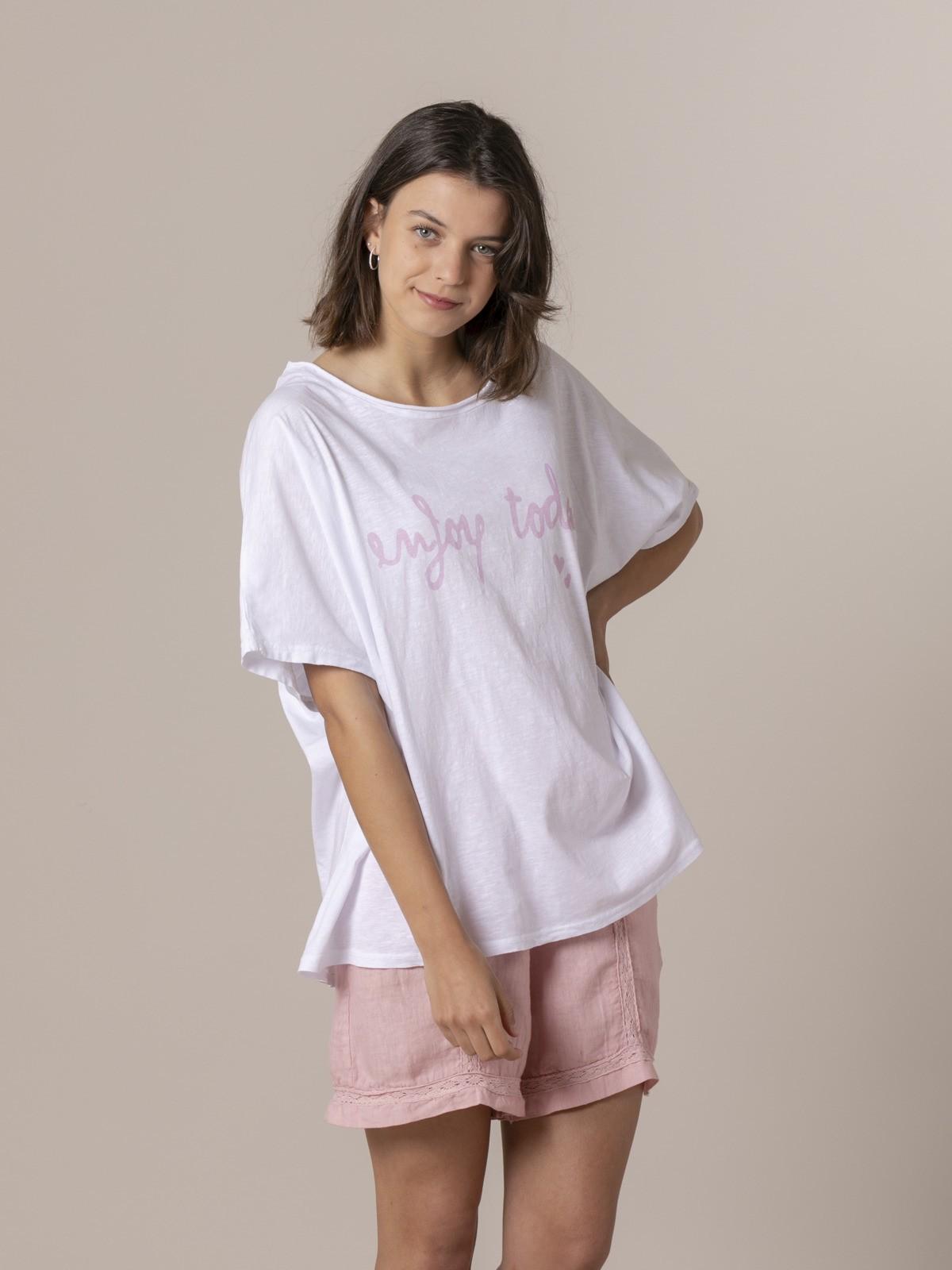 Woman Woman Enjoy today t-shirt Pink