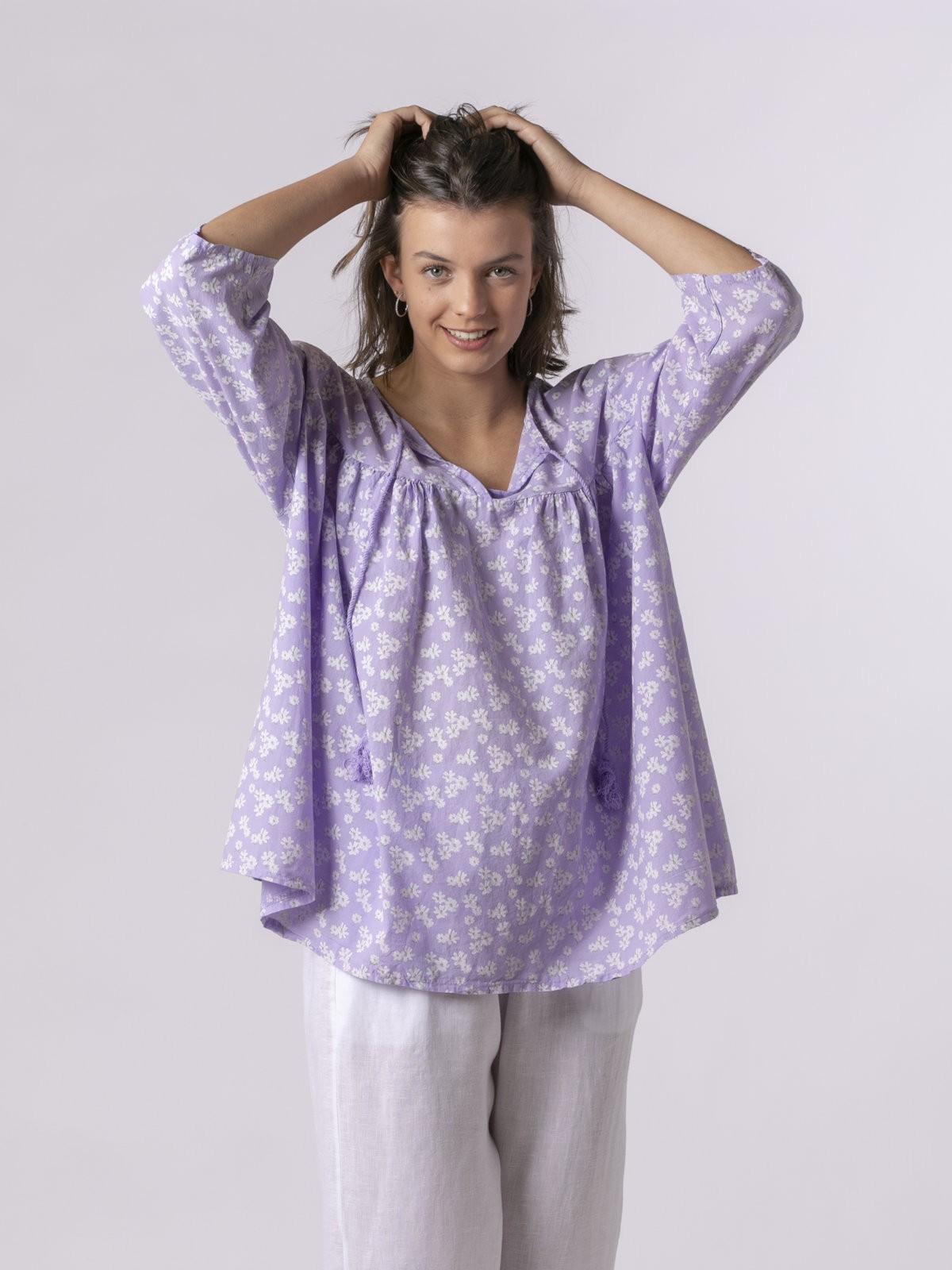 Woman Woman Printed lace blouse Lila