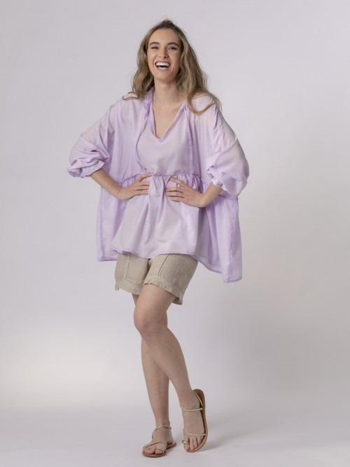 Woman Smooth flowing shirt Lila