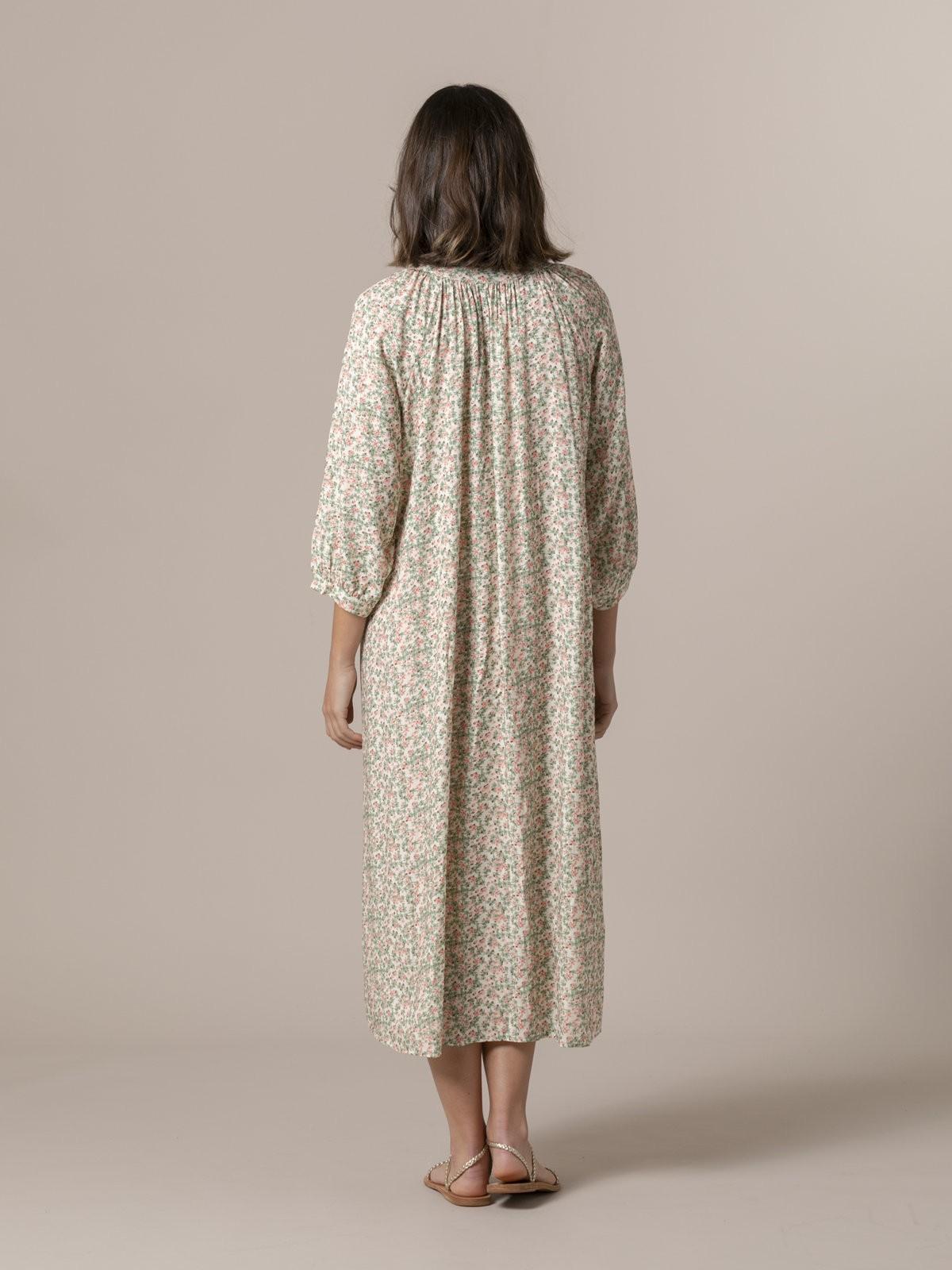 Woman Flowy printed dress Green