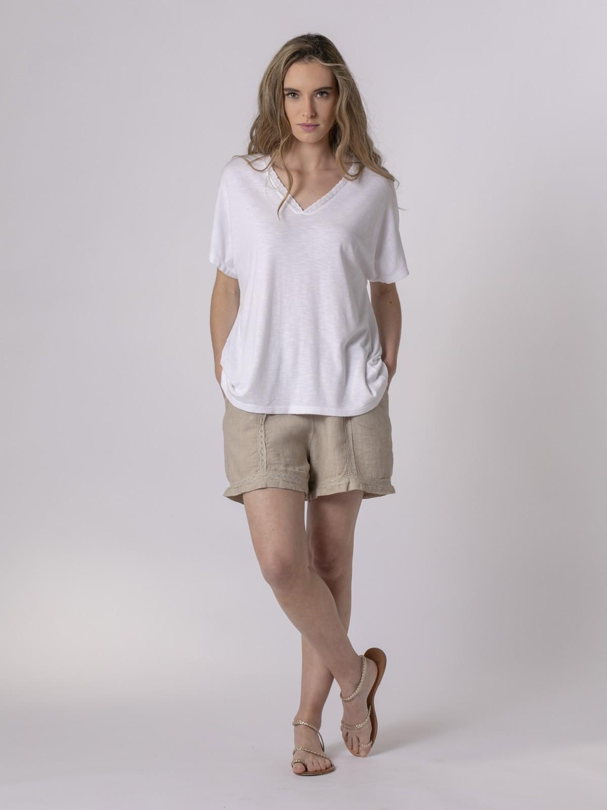 Woman Woman  Lace T-shirt White
