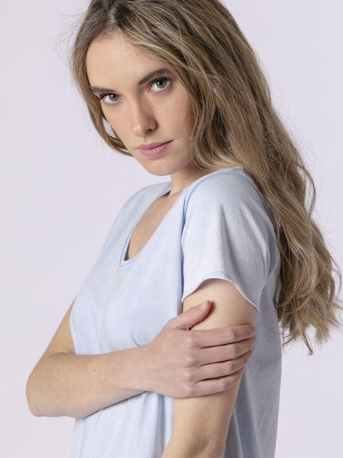 Woman Woman Plain tint eco t-shirt Blue