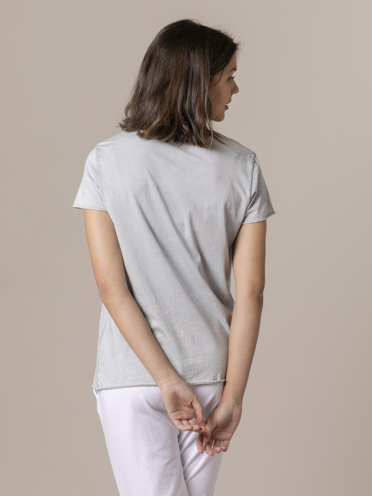 Camiseta mujer lisa tinte eco Gris
