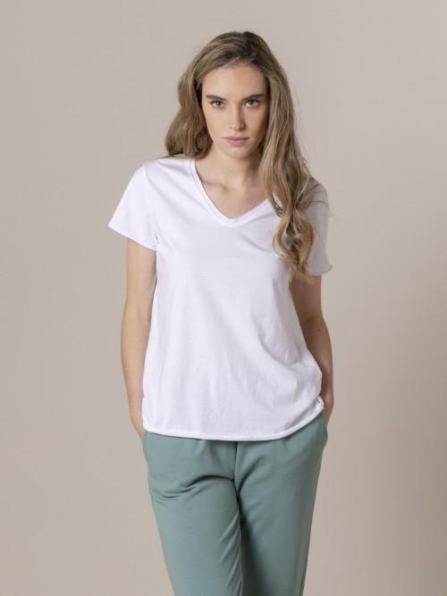 Woman Woman Plain tint eco t-shirt White