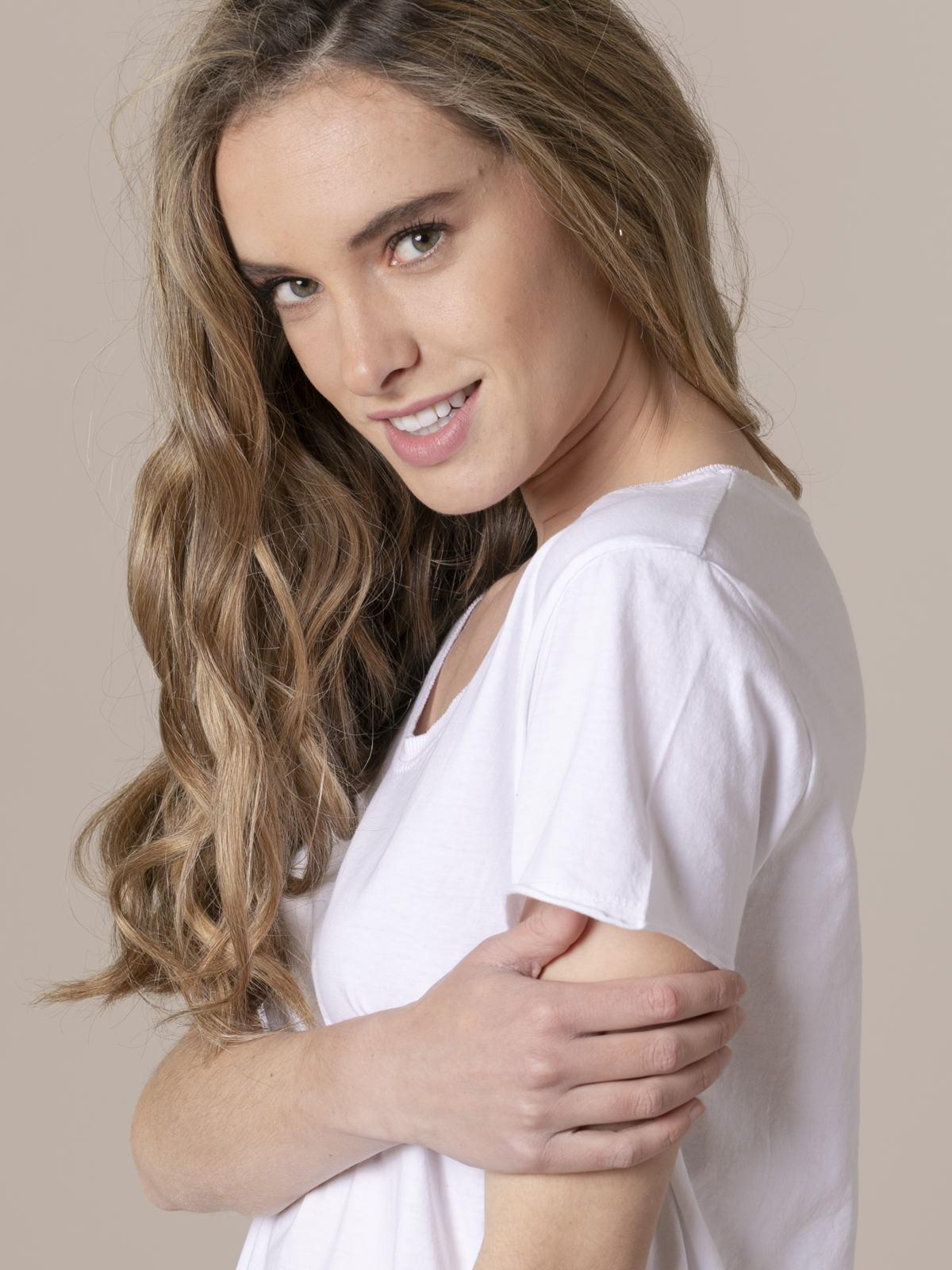 Camiseta mujer lisa tinte eco Blanco