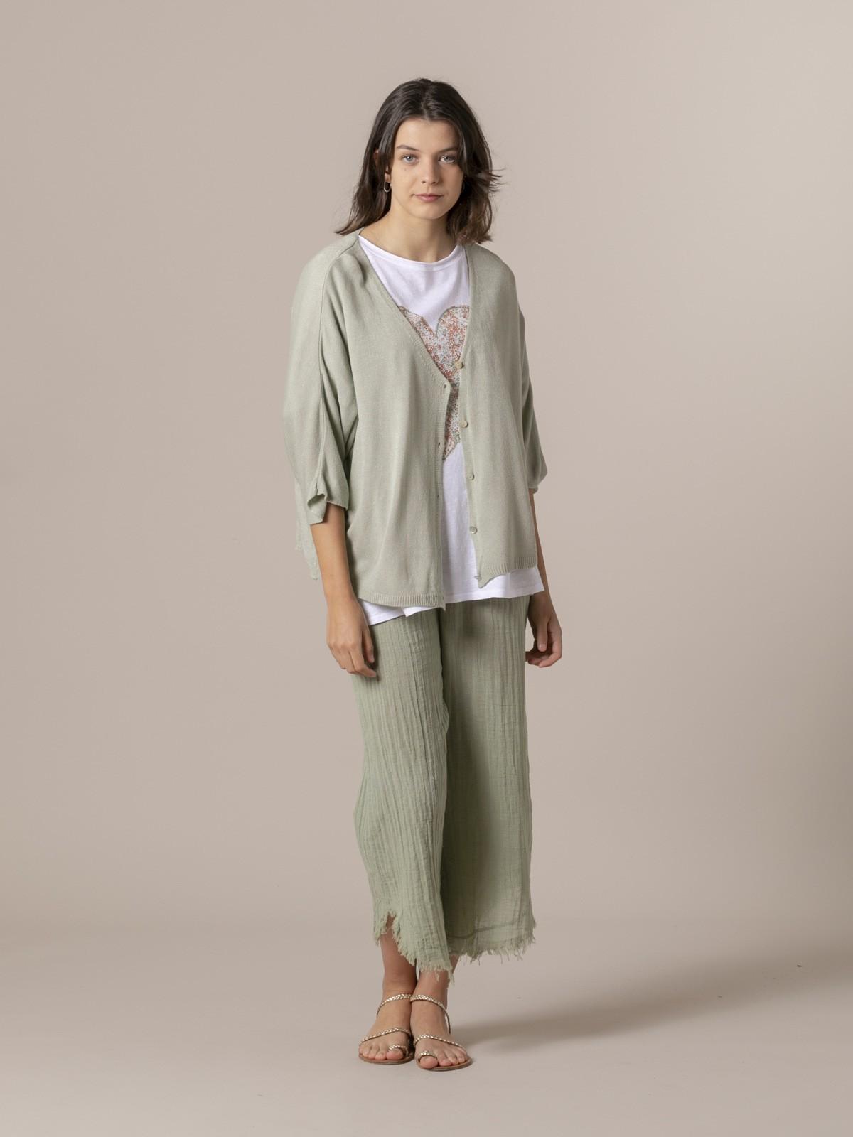 Chaqueta mujer modal manga corta Verde