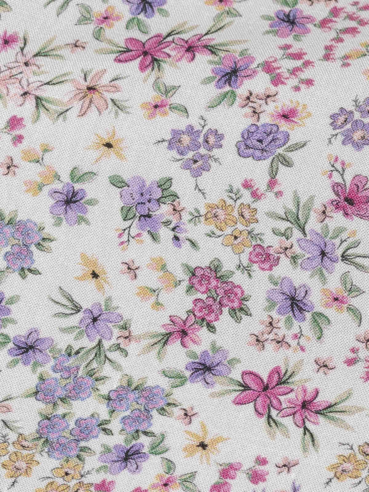 Vestido fluido estampado florecitas Lila
