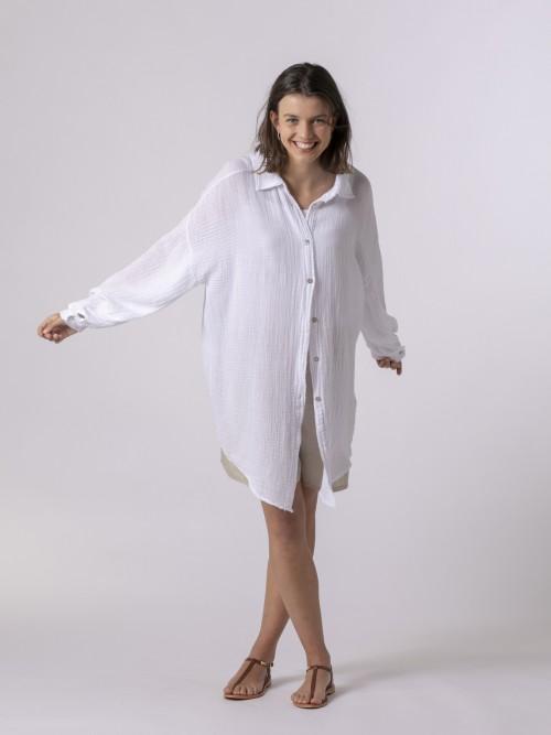 Woman Woman Button-down shirt White