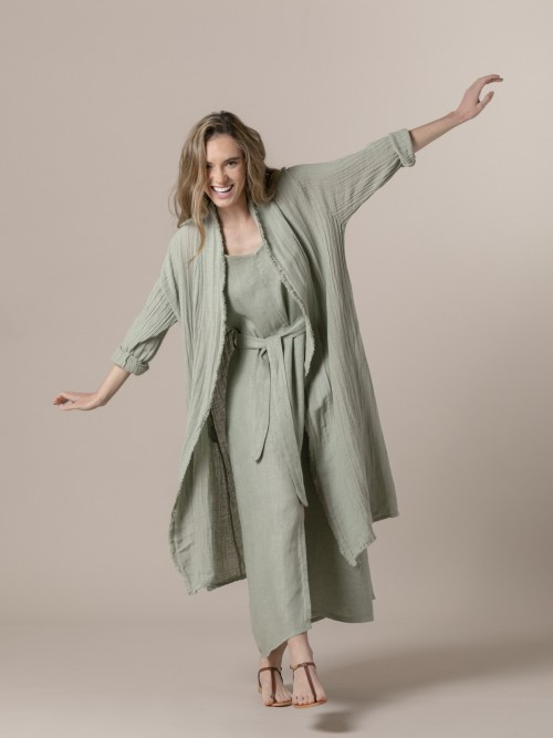 Woman Woman Oversized linen jacket Green