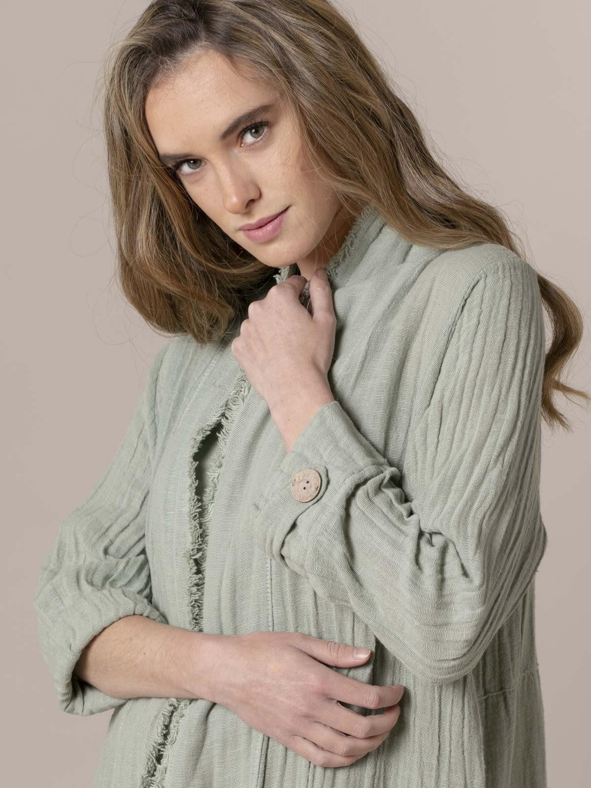 Woman Woman Oversized linen jacket Green