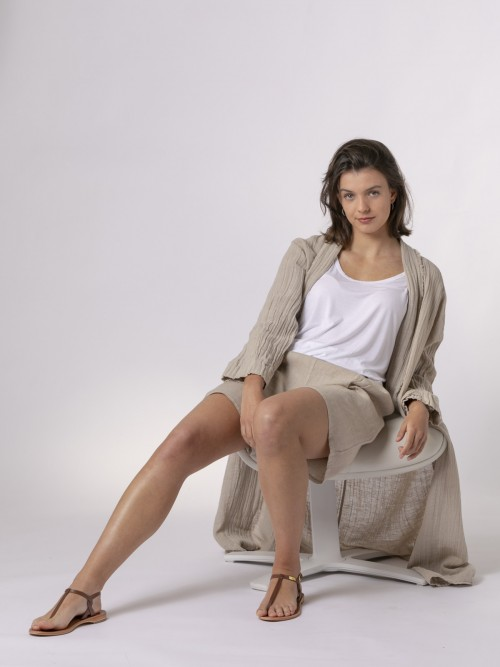 Woman Woman Oversized linen jacket Beige