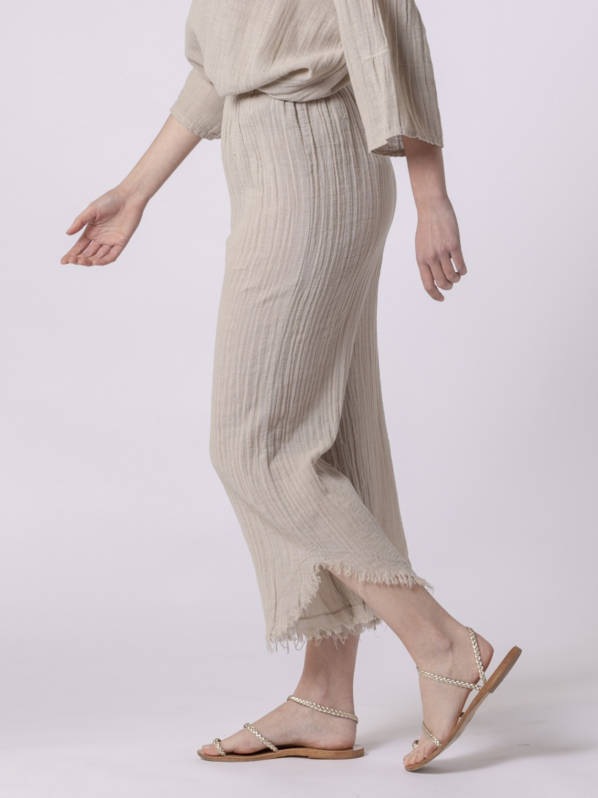 Woman Woman Linen pants Beige