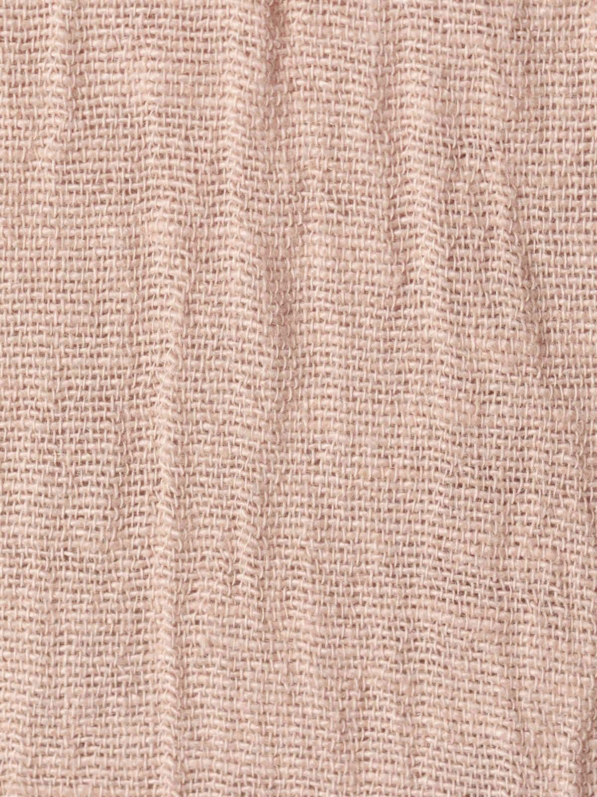 Blusa lino mujer cuello redondo arena